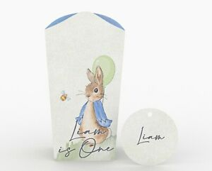 Personalised Peter Rabbit Popcorn Box Party Gift Box.