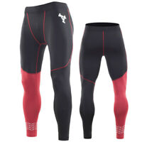 Men's Fleece Thermal Cycling Pants Padded Bike Bicycle Outdoor Sports Tights