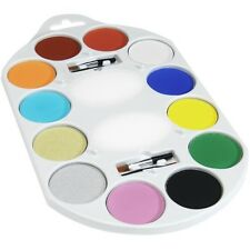 Vestito Per Halloween Make Up 12 Colori Pittura Viso Palette # nuovo da Smiffys