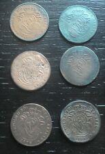 11 monnaies munten 1 et 2 cent Léopold II Belgique Belgie Belgium