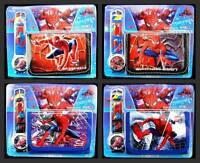 New 12 pcs Spider-man Wristwatch watch and Purses Wallets Children Gifts Q19