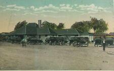 1921 Railroad Station Train Depot Belmar N.J , Street Scene, Cars, Biker  A5