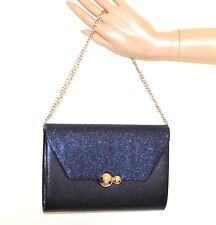 POCHETTE BLU borsello donna borsa shimmer brillantini borsetta handbag сумка G60