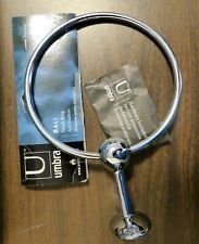 Umbra Bali Towel Ring Hardware, Chrome Finish, Die-Cast Zinc, Lacquer Rust Proof