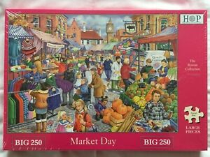 Brand New House of Puzzles BIG250 Large Piece Jigsaw Puzzle - MARKET DAY