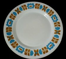 Royal Alma Staffordshire ironstone rétro turquoise/Caramel Marron 10 in (environ 25.40 cm) plaque 1972