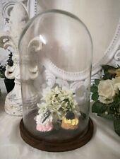 Glasdome Glasglocke mit Platte  Glasdose Dome Shabby Vintage Brocante