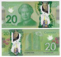 CANADA $20 Dollars GEM UNC (2012) P-108b Wilkins & Poloz POLYMER Banknote