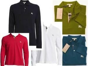 Burberry Brit Men's Long-Sleeve Pique Polo Shirt Check Placket