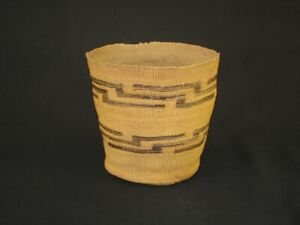 A Very NiceTlingit Native American Indian Basket, Circa: 1910