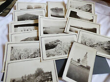 VTG 14 pc Photographs Snapshots old black & white photos Nature people Travel