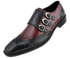 Men's Dress Shoes - Genuine Leather Two-Tone Shoes for Men, Formal Mens Shoes