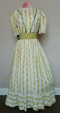 6 x Victorian style dresses in yellow & white floral.