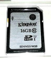 16GB Kingston SD SDHC Card - Memory For Canon Powershot Camera