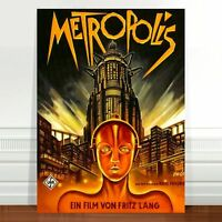 "Vintage Sci-fi Movie Poster Art ~ CANVAS PRINT 36x24"" Metropolis #2"