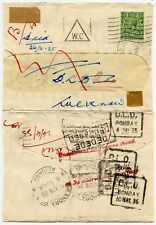 GB imprimés returned from India 1935 British felsol Co... Aligarh + DLO