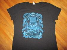 TERRY DAVIDSON & GEARS CONCERT T SHIRT Biker Blues Rock Guitar Skull Womens 2XL