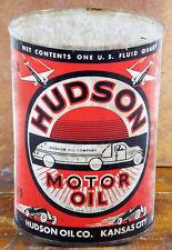 Hudson Motor Oil Kansas City Can Shaped Gas Station Adv Cardboard Counter Sign