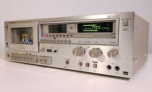 SHARP RT-2266 VINTAGE CASSETTE DECK 1979 HIGH-END HI-FI STEREO NEEDS BELTS