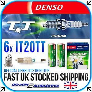 6x DENSO IT20TT IRIDIUM TT SPARK PLUGS FOR JAGUAR S-TYPE 2.5 V6 04.02-10.07