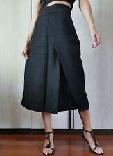 🌟SPORTMAX by MAX MARA  Black Skirt in Stretch WOOL   2USA_ 4GB_ 32D_ 34FR_36IT