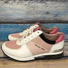 MICHAEL Michael Kors Allie Trainer Extreme Sneakers Smokey Rose Pink White SZ 7M