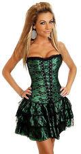 Overbust Burlesque Fancy Dress Corset+Skirt Tutu Costume Bustier