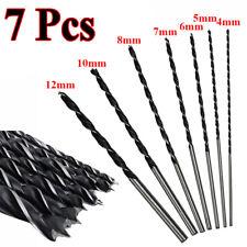 7 Pièces 300mm Extra Long Haute teneur en carbone acier bois foret Drills 4-12mm