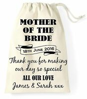 Personalised Wedding Day Gift Bag Mother of the Bride Present Vintage
