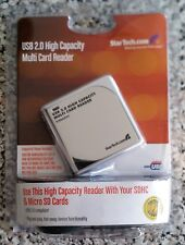 USB 2.0 HIGH CAPACITY MULTI CARD READER for use with SDHC + MICRO SD CARDS new