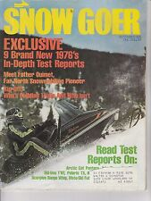 SEPT 1975 SNOW GOER snowmobile magazine