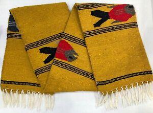 Mexican Falsa Blanket Fish Print Artisan Handwoven Tapestry Yoga Throw Rug XL 03