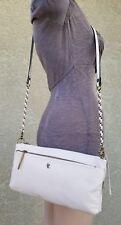 New Elliott Lucca Leather 3Way Demi Clutch Convertible Crossbody Bag Purse stone