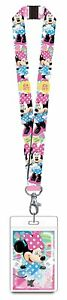 Disney Minnie Mouse Pink Lanyard Novelty with Card Holder