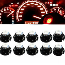 10x Red T4.7 T5 Neo Wedge LED Bulbs Dash Climate Panel Instrument Base Light