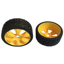 Yellow 4PCS 1/8 Scale RC Off Road Car Buggy Racing Tires Tyre and Wheels E