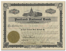 Portland National Bank Stock Certificate