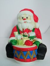 CHRISTMAS Porcelain Santa Claus Music Box Plays Santa Claus is Coming to Town