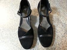 Dansko Roxy Size 41 US 10.5-11 Black Suede Ankle Strap Pumps EXC