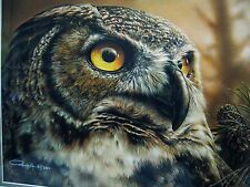 """DENIS MAYER JR, """"The Great Visionary"""" Great Horned Owl '' Canvas Edition"""