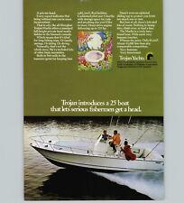 1970 PAPER AD 25' Trojan Yacht Motor Boat Fisherman Fishing Boat