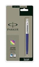 GENUINE PARKER JOTTER STANDARD BALLPOINT PEN BLUE BODY,STAINLESS STEEL BEST GIFT