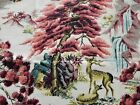 RARE Wildlife Barkcloth By Town & Country 'The Enchanted Forest' New/Old Stock