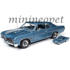AUTOWORLD AMM1115 1967 BUICK GS 400 1/18 & 1/64 2 CARS SET BLUE