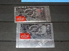 1961 Russia. Silver Foil/ Space. Ovp+ Regular Values. Mnh Og. Read!