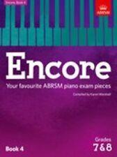 ABRSM: Encore-libro 4 (grados 7 y 8) piano Partituras álbum instrumental
