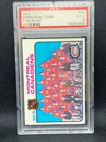 MONTREAL CANADIENS TOPPS 1975-76 TEAM # 90 PSA 9 MINT Guy Lafleur Henri Richard