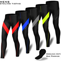 Mens Cycling Trouser Compression Tights Long Pant Coolmax Padded Cycle Legging