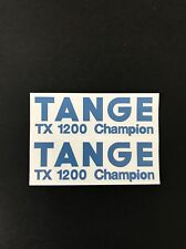 Tange TX -1200 Champion Fork STICKERS Decals Old School Bmx Blue/white