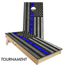 Slick Woody's Police Thin Blue Line Cornhole Board Game Set - Made in the USA!